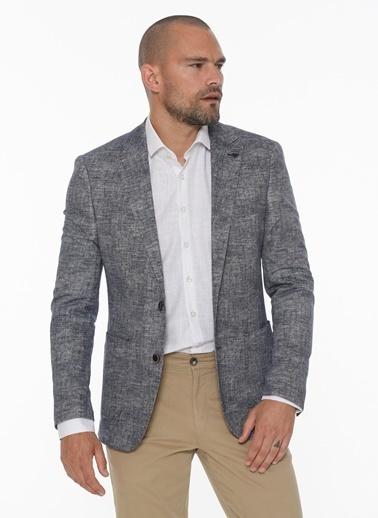 Beymen Business 4B0420200021 Slim Fit Ceket Desenli Lacivert